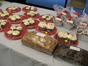 small selection of Holiday Boutique baked goods