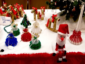 Picture of holiday decorations at boutique